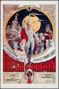 "Movie Posters:Sexploitation, Flesh Gordon (Mammoth Films, 1974). One Sheet (27"" X 41"") &Uncut Pressbook (4 Pages, 11"" X 14""). Sexploitation.. ... (Total: 2Items)"