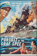 "Movie Posters:War, Pursuit of the Graf Spee (Rank, 1957). One Sheet (27"" X 41""). War....."