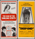 """Movie Posters:Adult, Case of the Full Moon Murders & Other Lot (Seven Keys, 1975). Australian Daybills (2) (13"""" X 30""""). Adult. Australian Title: ... (Total: 2 Items)"""