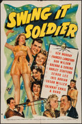 """Movie Posters:Comedy, Swing It Soldier (Universal, 1941). One Sheet (27"""" X 41""""). Comedy.. ..."""