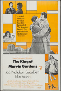 """The King of Marvin Gardens & Other Lot (Columbia, 1972). Australian One Sheet (27"""" X 40"""") and Australian D..."""