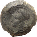 Ancients:Greek, Ancients: SICILY. Syracuse. Time of Dionysius I (406-367 BC). Ædrachm (31mm, 34.93 gm, 10h)....
