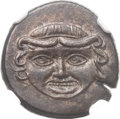 Ancients:Greek, Ancients: SICILY. Camarina. Ca. 420-405 BC. Æ tetras (17mm, 3.20gm, 9h). ...