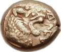 Ancients:Greek, Ancients: LYDIAN KINGDOM. Alyattes or Walwet (610-560  BC). ELthrid-stater or trite (12mm, 4.75 gm). ...