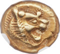 Ancients:Greek, Ancients: LYDIAN KINGDOM. Alyattes or Walwet (ca. 610-561 BC). EL third-stater or trite (12mm, 4.73 gm)....