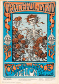 "Music Memorabilia:Posters, Grateful Dead ""Skull And Roses"" Avalon Ballroom Concert PosterFD-26 (Family Dog, 1966)...."