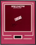 Music Memorabilia:Autographs and Signed Items, Eric Clapton Another Ticket Autographed LP Cover (RSORX-1-3095, 1981)...