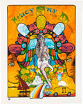 "Music Memorabilia:Posters, Beatles Related - A Psychedelic Poster for ""Lucy In The Sky WithDiamonds"" (c. Late 1960s)...."