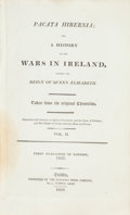 Books:World History, [Sir Thomas Stafford]. Pacata Hibernia; or, A History of the Wars in Ireland, During the Reign of Queen Elizabeth. Taken... (Total: 2 Items)