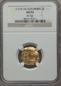 Colombia, Colombia: Philip V gold Cob 2 Escudos ND (1714-16) AU53 NGC,...