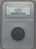 1804 1/2 C Crosslet 4, No Stem, C-12 -- Corroded -- NCS. XF Details. NGC Census: (1/45). PCGS Population (0/0)