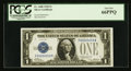 Small Size:Silver Certificates, Low Serial Number F00000059A Fr. 1600 $1 1928 Silver Certificate. PCGS Gem New 66PPQ.. ...