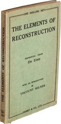 Books:World History, H. G. Wells. The Elements of Reconstruction. London: Nisbet& Co., [1916]....