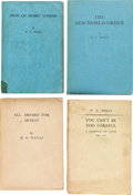 Books:Literature 1900-up, H. G. Wells. Group of Four Uncorrected Proofs. Published in Londonby Secker and Warburg.... (Total: 4 Items)