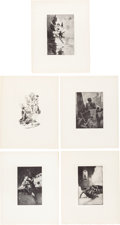 Books:Prints & Leaves, [Edgar Rice Burroughs, association]. Collection of Pre-PublicationProofs of Plates from Various Burroughs Titles. [N.p., n....