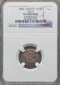 Early Half Dimes, 1800 H10C LIBEKTY, V-2, LM-3, R.4, -- Damaged -- NGC Details. VG.NGC Census: (1/41). PCGS Population (0/6). ...