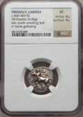 Ancients:Greek, Ancients: THESSALY. Larissa. Circa 460-400 BC. AR drachm (6.06gm)....