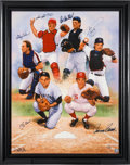 Autographs:Others, 2000 Catchers Multi Signed Giclee by Doo S. Oh....