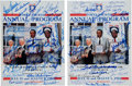 Autographs:Others, 1983 Multi Signed Hall of Fame Programs Lot of 2....