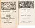 """Books:Literature Pre-1900, William Morris. The Aims of Art. London: Office of """"TheCommonweal,"""" 1887. First edition. [and:] Chants for Soci...(Total: 5 Items)"""