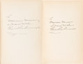 Books:Signed Editions, Edgar Rice Burroughs. Tarzan and the Jewels of Opar. NewYork: Grosset & Dunlap, [1918]. Reprint. Inscribed by ...(Total: 2 Items)
