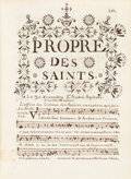 Books:Manuscripts, [Church Music Manuscript] Antoine Louis Duprez. Livre D'EgliseConforme aux Brevaire & Missel de Soissons. Soiss...(Total: 2 Items)