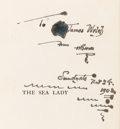 Books:Science & Technology, H. G. Wells. INSCRIBED. The Sea Lady. A Tissue ofMoonshine. New York: D. Appleton and Company, 1902....