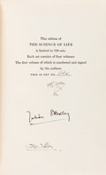 Books:Science & Technology, H. G. Wells, Julian S. Huxley, and G. P. Wells. SIGNED/LIMITED.The Science of Life. Garden City: Doubleday Dora... (Total:4 Items)