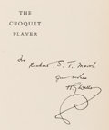 Books:Literature 1900-up, H. G. Wells. INSCRIBED. The Croquet Player. New York:Viking, 1937....