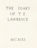 Books:Biography & Memoir, T. E. Lawrence. The Diary of T. E. Lawrence. London: Corvinus Press, 1937. First edition, first printing. Limited ...