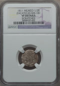 Mexico, Mexico: Revolutionary. Zacatecas 1/2 Real 1811 VF Details(Scratches) NGC,...
