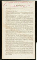 Books:Americana & American History, [George Armstrong Custer]. [Report on Reconstruction inTexas]. 1866. Disbound from Reports made to the House ofR...