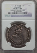 Austria, Austria: Olmutz. Wolfgang 1/2 Taler 1727 VF Details (Surface Hairlines) NGC,...
