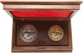 China:People's Republic of China, China: People's Republic of China. Dragon & Phoenix Gold and Silver Proof Set 1990,... (Total: 2 coins)