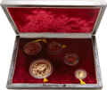 China:People's Republic of China, China: People's Republic of China. Five-piece gold Panda Proof Set 1986,... (Total: 5 coins)
