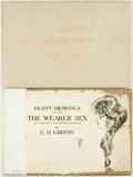 Books:Art & Architecture, Charles Dana Gibson, illustrator. Eighty Drawings including the Weaker Sex. New York: Scribner's, 1903. Oblong folio... (Total: 2 Items)