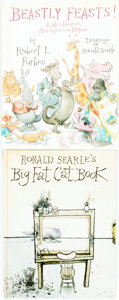 Books:Children's Books, Ronald Searle, illustrator. SIGNED. Pair of First Editions. Variouspublishers and dates. Beastly Feasts! is signed by...(Total: 2 Items)