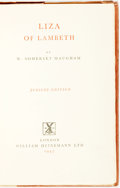Books:Literature 1900-up, W. Somerset Maugham. SIGNED/LIMITED. Liza of Lambeth.London: William Heinemann, 1947. Jubilee edition, limited to 1...