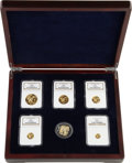 China:People's Republic of China, China: People's Republic of China. Five-piece Lunar Premium gold Panda gold Set and Silver Medal 2008,... (Total: 6 pieces)