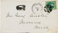 Autographs:Military Figures, George A. Custer Signed Envelope....