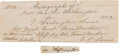 Autographs:U.S. Presidents, First Lady Martha Washington Signature with Letter of FamilyProvenance....
