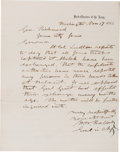 Autographs:Military Figures, Union General Henry Halleck Autograph Letter Signed...