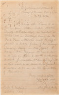 Autographs:Military Figures, Confederate General William Wirt Allen Autograph Letter Signed, With an Endorsement Signature by General Joseph Wheeler on the...