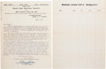Autographs:Authors, Marcus Garvey Typed Letter Signed.... (Total: 4 Items)