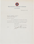 Autographs:Celebrities, Louis Chevrolet Typed Letter Signed....
