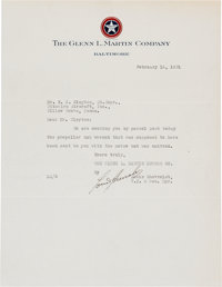 Louis Chevrolet Typed Letter Signed