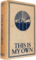Autographs:Celebrities, [Julius J. Rosenburg]. Copy of Rockwell Kent's This Is MyOwn Signed by the Author and Former Owner, Julius Rosenb...