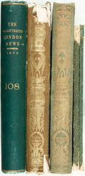Books:Periodicals, [Bound Periodical] The Illustrated London News. Three boundvolumes, comprising the years 1856, 1861 and 1896. Two i... (Total:5 Items)
