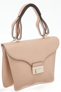 "Luxury Accessories:Bags, Valentino Beige Leather Top Handle Bag. Excellent Condition.12"" Width x 9"" Height x 2"" Depth. ..."