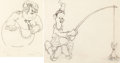Animation Art:Production Drawing, Mother Goose Goes Hollywood Laurel and Hardy AnimationDrawings (Walt Disney, 1938)....